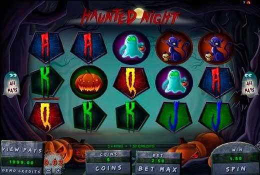 Страшилки в игровом автомате Haunted Night
